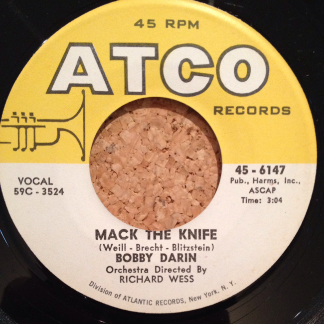 """BOBBY DARIN """"MACK THE KNIFE / WAS THERE A CALL FOR ME"""" 